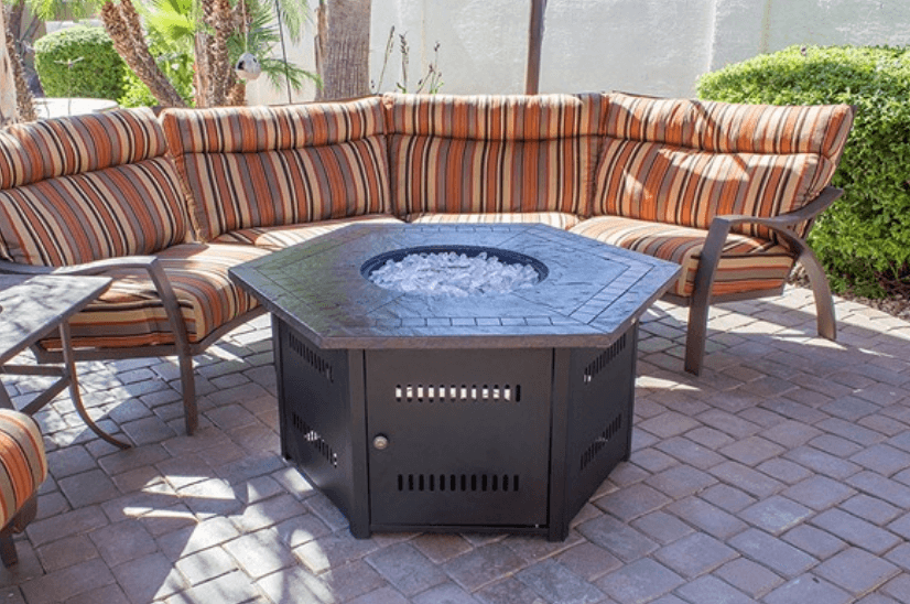 hiland hexagon fire pit table review